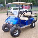 custom blue cart