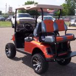 Orange Custom Golf Cart
