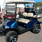 Blue Custom Golf Cart