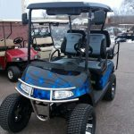 Flame Painted Golf Cart
