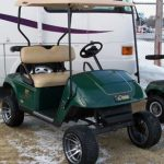 custom green golf cart