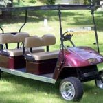 custom burgandy limo
