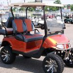 custom orange golfcart