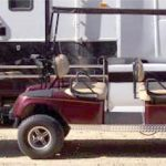 custom towable golf cart